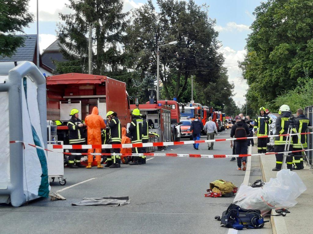 Gefahrgut an Schöpsdrehe entdeckt. Foto: Stadt Plauen