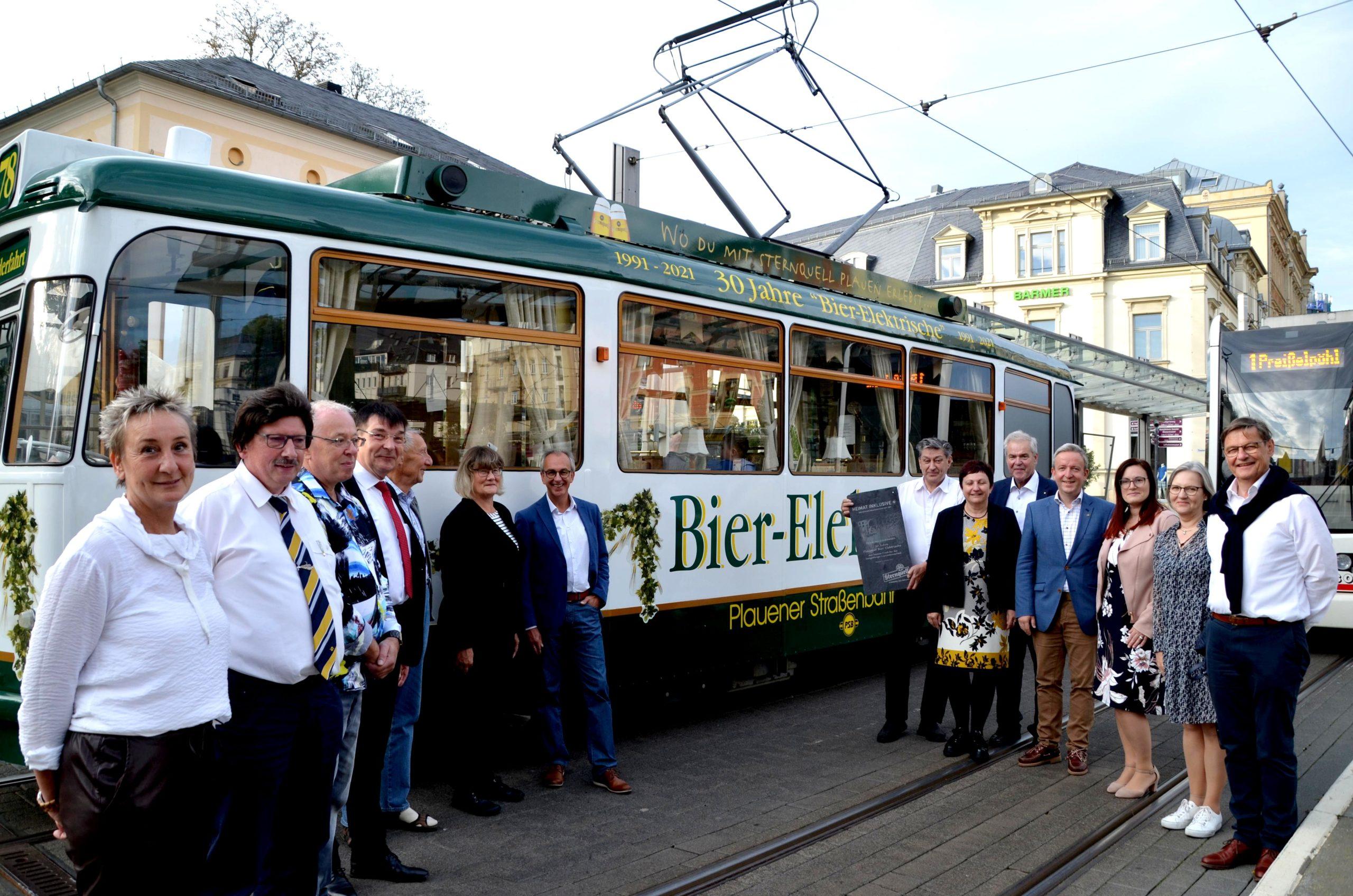 Bier-Elektrische rollt seit 30 Jahren durch Plauen